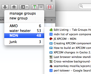 Tab Groups Helper Screenshot
