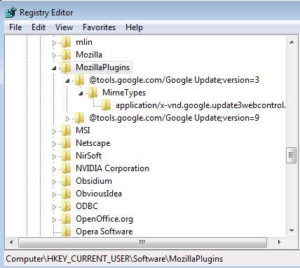 Google-Update-plugin-Registrierung