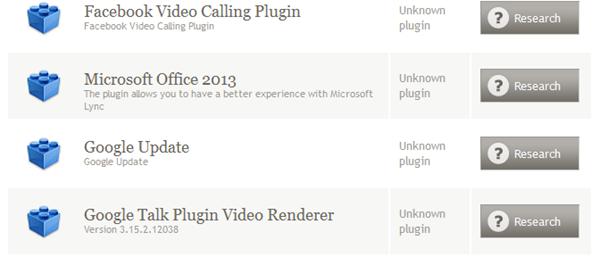 version actuelle plug-in Google Update