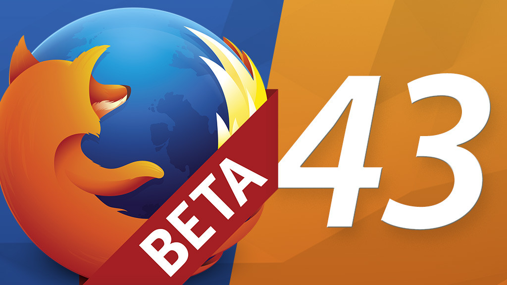 Firefox 43 beta version in the first practice test