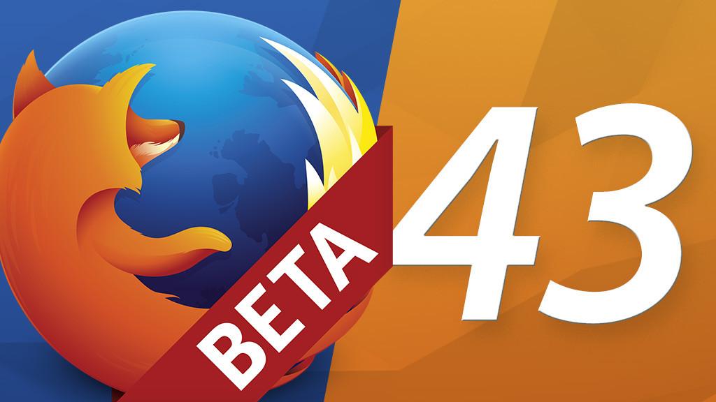 Firefox 43 beta version