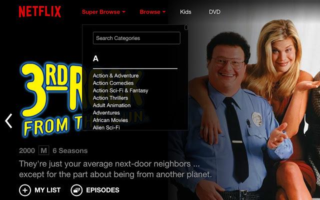 Netflix Super Browse Screenshot