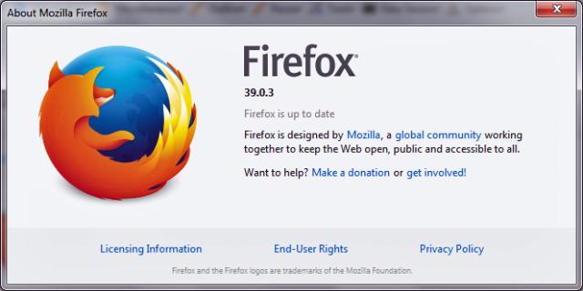 Firefox 39.0.3 update