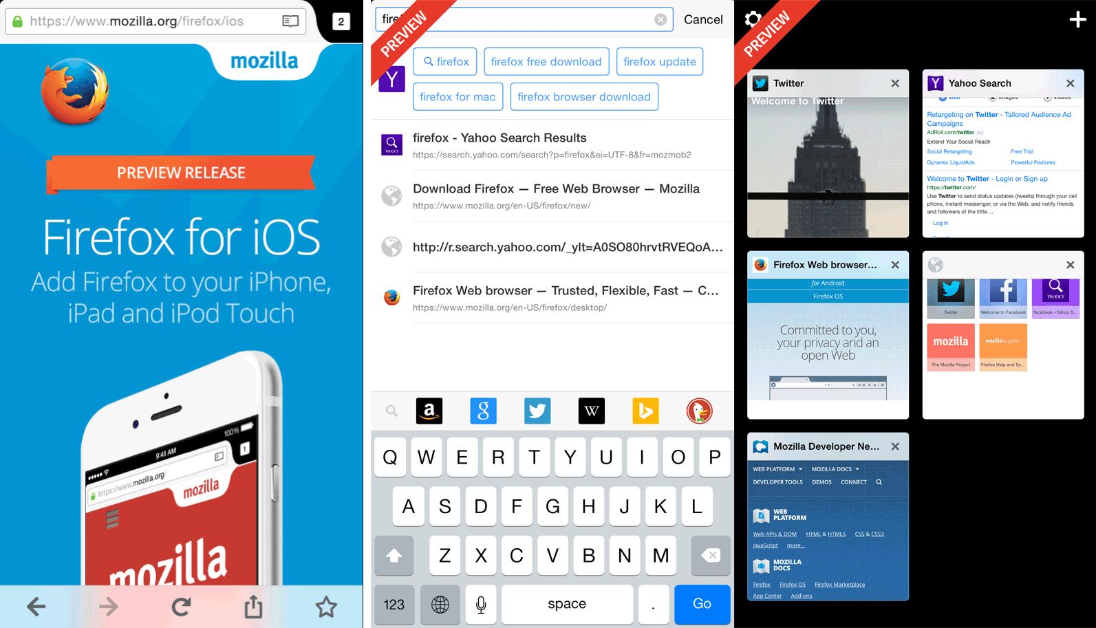 Firefox for IOS setting