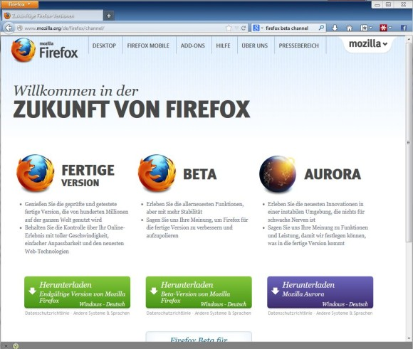 The portable version of Firefox can be started directly without installation - even from a USB stick.