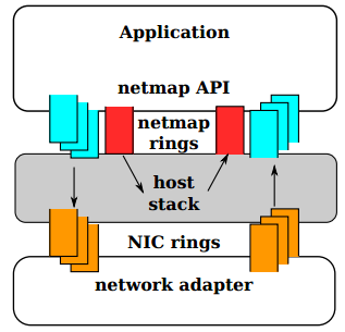 Unlike traditional network subsystem netmap allows you to work directly with iron