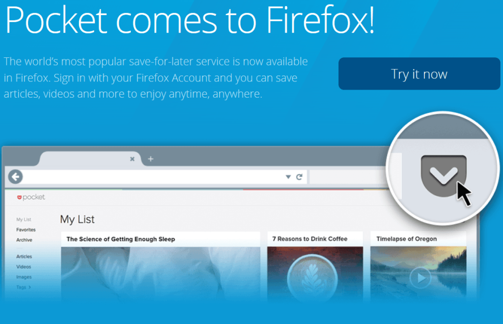 Pocket Extension for firefox
