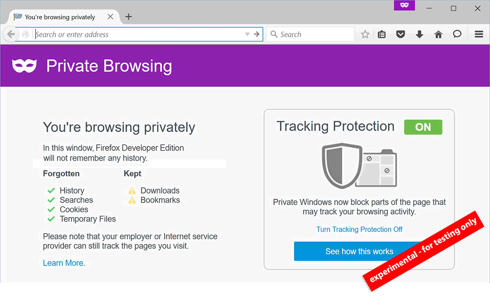 Mozilla bolstered the Privacy Setting in Firefox and Blocked Ads