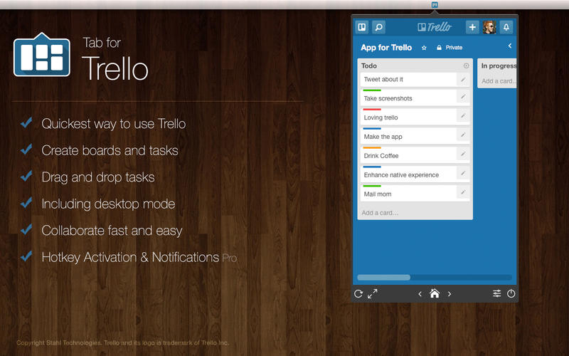 Tab for Trello Screenshot