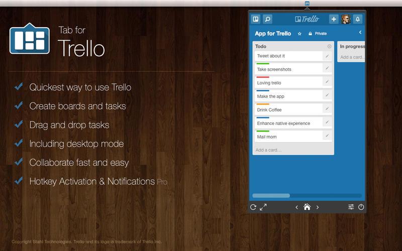 Tab for Trello Screenshot