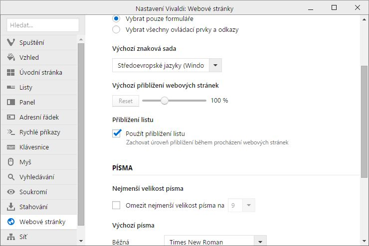 Vivaldi allows use in any other sheet approach even when all point to the same Web site