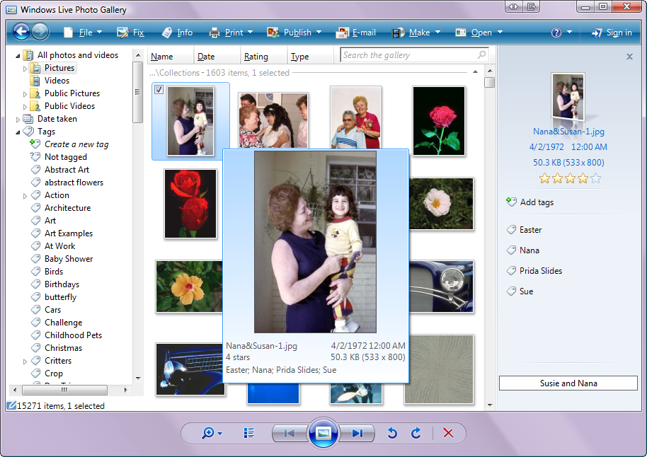 Windows Live Photo Gallery - fun with photos