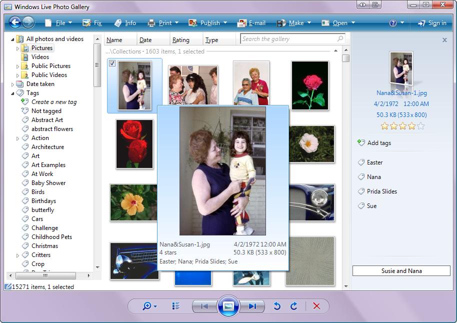 Windows Live Photo Gallery - fun with photos
